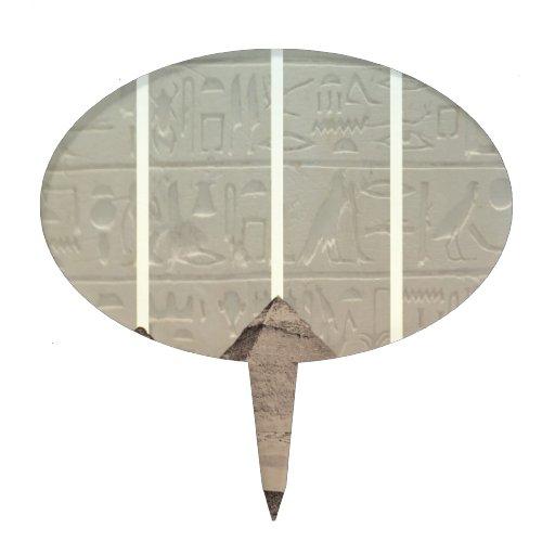 Proyectores del jeroglífico de la pirámide decoración para tarta