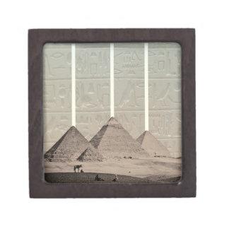 Proyectores del jeroglífico de la pirámide caja de recuerdo de calidad