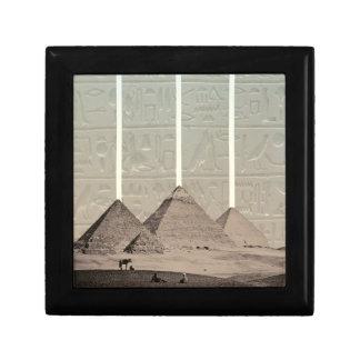 Proyectores del jeroglífico de la pirámide caja de recuerdo