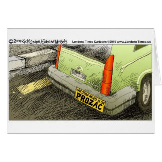 Prozac Bumper Sticker Funny Tees Cards & Gifts Card