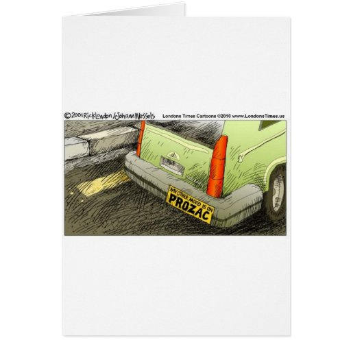 Prozac Bumper Sticker Funny Tees Cards & Gifts Cards