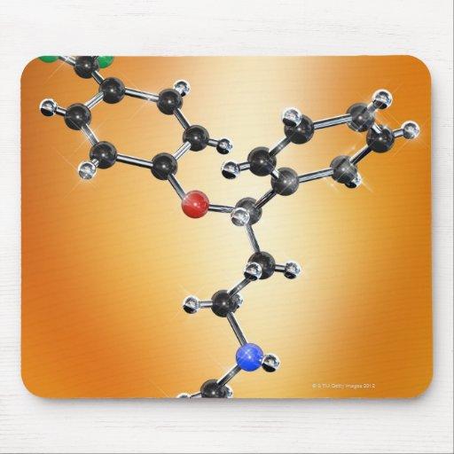 Prozac. Modelo molecular del antidepresivo Alfombrillas De Raton