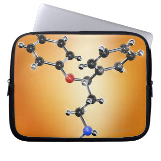 Prozac. Molecular model of the antidepressant Laptop Sleeves