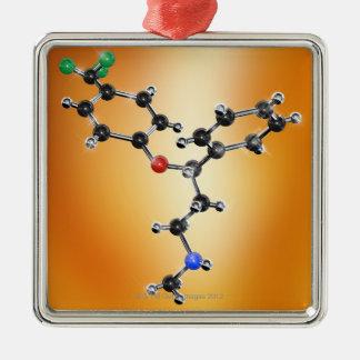 Prozac. Molecular model of the antidepressant Christmas Tree Ornaments