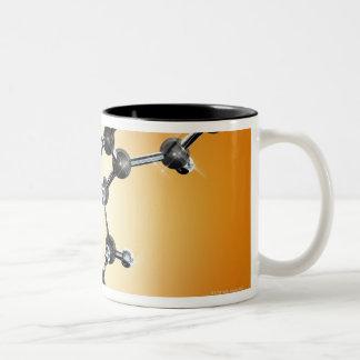 Prozac. Molecular model of the antidepressant Two-Tone Coffee Mug
