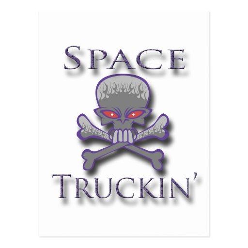 Prpl de Truckin del espacio Tarjeta Postal