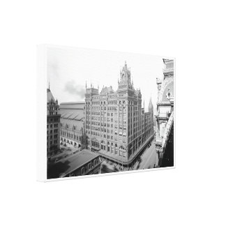 PRR Broad Street Station Wrapped Canvas Print