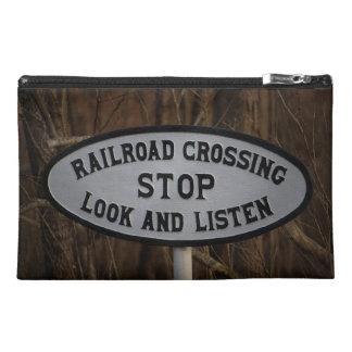 PRR Crossing Stop-Look-Listen Sign Bag