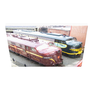 PRR E8A 5809 and ERIE E8A 833@Steamtown Canvas Print