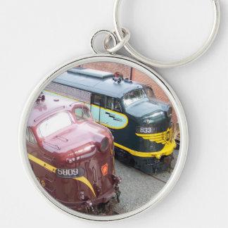 PRR E8A 5809 and ERIE E8A 833 @ Steamtown Keychain