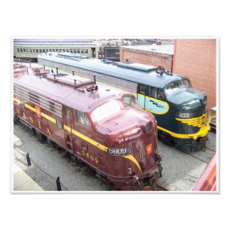 PRR E8A 5809 and ERIE E8A 833 @ Steamtown Photo Print