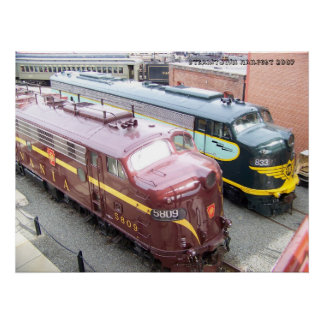 PRR E8A 5809 and ERIE E8A 833 @ Steamtown Poster
