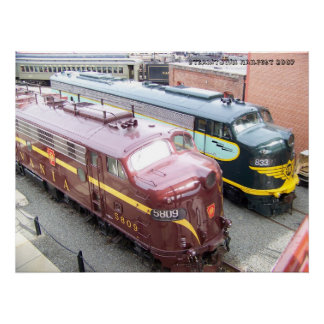 PRR E8A 5809 and ERIE E8A 833 @ Steamtown Poster