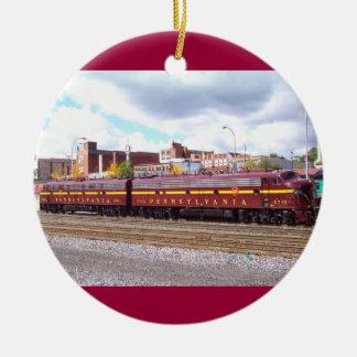 PRR E-8A(JTFS) 5809 and 5711 at Altoonia Railfest Double-Sided Ceramic Round Christmas Ornament