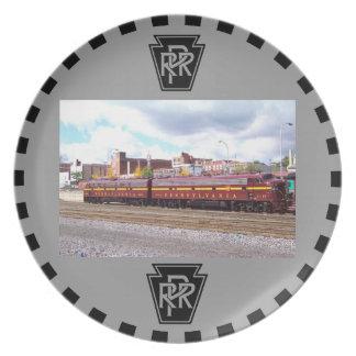 PRR E-8A(JTFS) 5809 and 5711 at Altoonia Railfest Plate