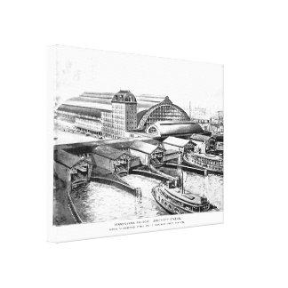 PRR Jersey City NJ Station 1893 Canvas Print