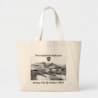 PRR Jersey City NJ Station 1893 Large Tote Bag