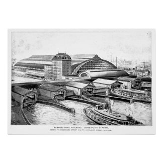 PRR Jersey City NJ Station 1893 Poster