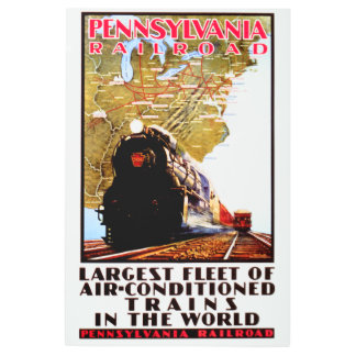PRR Largest Fleet of Air Conditioned Trains Metal Print