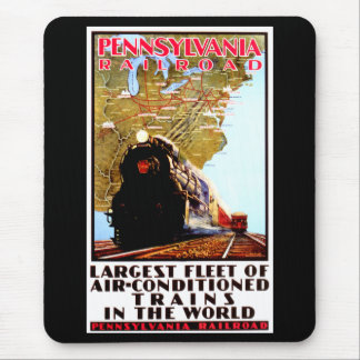 PRR Largest Fleet of Air Conditioned Trains Mouse Pad