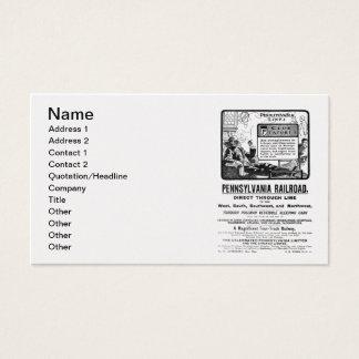 PRR Pennsylvania Limited Train 1900 Business Card