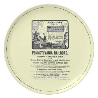 PRR Pennsylvania Limited Train 1900 Dinner Plate