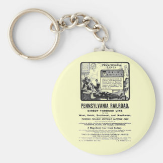 PRR Pennsylvania Limited Train 1900 Keychain