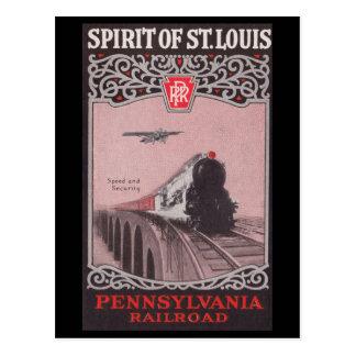 PRR Train Spirit of St. Louis Postcard