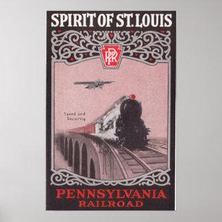 PRR Train Spirit of St. Louis Poster