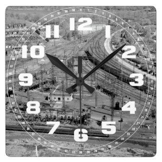 PRR Zoo Junction Custom Square Wall Clock