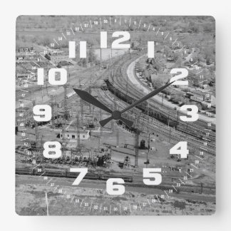 PRR Zoo Junction Square Wall Clock