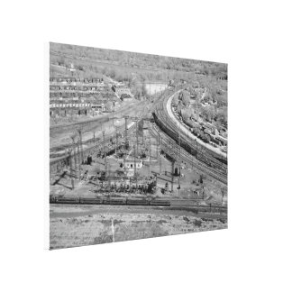 PRR Zoo Junction Wrapped Canvas Print