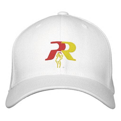 PR's White Golf Hat Embroidered Baseball Cap