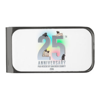 PRSDC 25th Anniversary Tees, GIfts Gunmetal Finish Money Clip