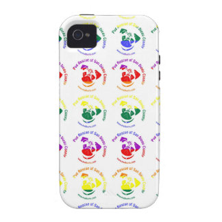 PRSDC Logo - Rainbow Pride Case-Mate iPhone 4 Cases