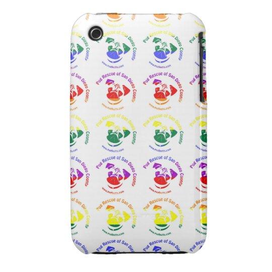 PRSDC Logo - Rainbow Pride iPhone 3 Case