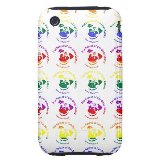 PRSDC Logo - Rainbow Pride iPhone 3 Tough Case