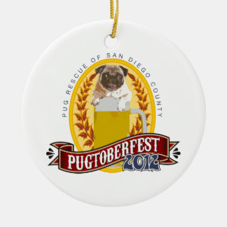 PRSDC Pugtoberfest Logo Ceramic Ornament