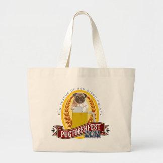 PRSDC Pugtoberfest Logo Large Tote Bag
