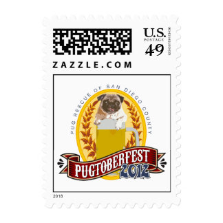 PRSDC Pugtoberfest Logo Postage Stamps