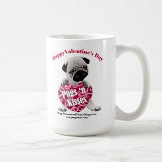 PRSDC Valentine Pug - Fawn - For Pugs N Kisses Coffee Mug