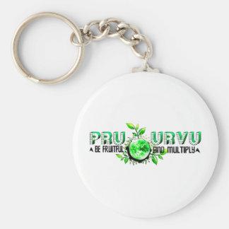 Pru Urvu Basic Round Button Keychain