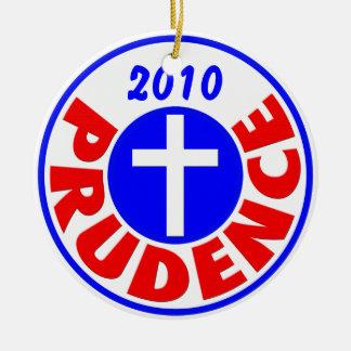 Prudence 2010 ceramic ornament