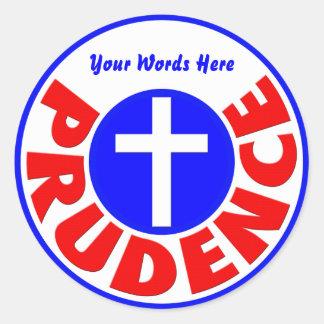 Prudence Classic Round Sticker