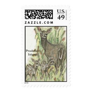 Prudence Island Deer Postage