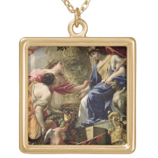 Prudence Leading Peace and Abundance, c.1645 (oil Personalized Necklace