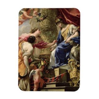 Prudence Leading Peace and Abundance, c.1645 (oil Rectangular Photo Magnet
