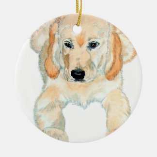 Prudence the English Retriever Pup Ceramic Ornament