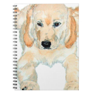 Prudence the English Retriever Pup Notebook