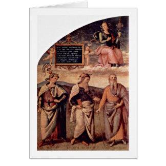 Prudenzia Justitia By Pietro Perugino Card